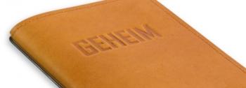 """""""GEHEIM"""" mit Blankoeinlage"""
