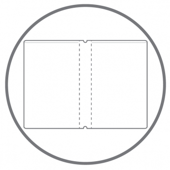A4+ HardSkin weiß mit 2 x Notizen und Doppeltasche