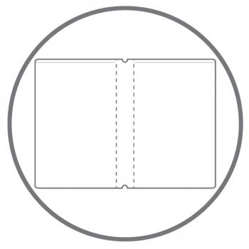 A4+ 2er Projektmappe HardSkin natur (transluzent) mit 2 x Notizen, Doppeltasche und Schnellhefter