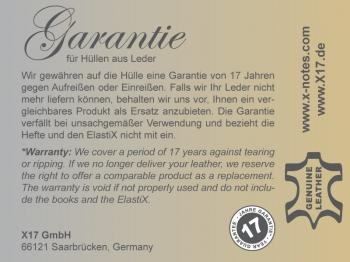A5 Hülle 2er Leder glatt magenta inkl. ElastiXs
