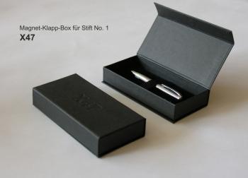 Stift N°1: Kugelschreiber stahl glatt