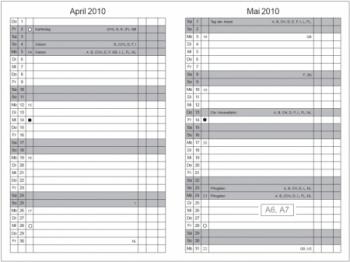 A5 4er Leder natur rot Lehrerkalender Kalender 2020