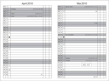 A6 3er Texon stone Lehrerkalender 2020