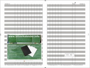 A5 4er Lefa graphit Lehrerkalender Kalender 2020