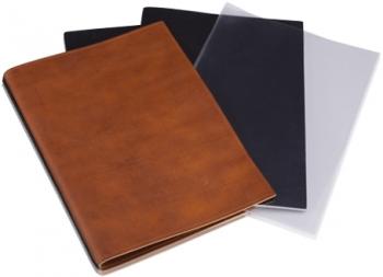 A4+ 2er Leder natur marone mit 2 x Notizen und Doppeltasche