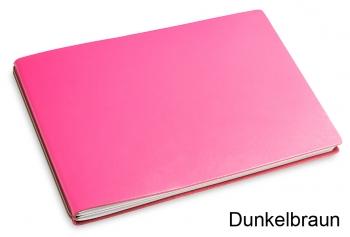 "A5+ Quer 2er Leder glatt  ""Pink-Edition"" mit farbigen ElastiXs nach Wahl"