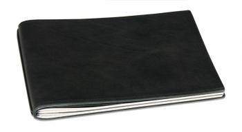 A5+ Quer Hülle 3er Leder natur schwarz inkl. ElastiXs