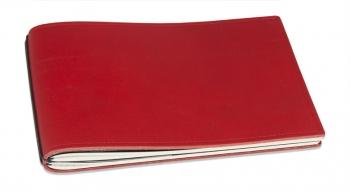 A5+ Quer Hülle 3er Leder natur rot inkl. ElastiXs