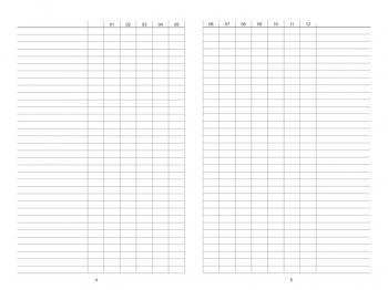 A5 Tracker Liste Horizontal