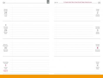 A6 3er Leder natur rot Lehrerkalender 2021