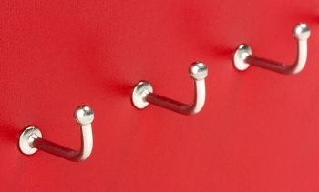 X17 Schlüsselbrett 10er Leder glatt rot mit Ziernaht