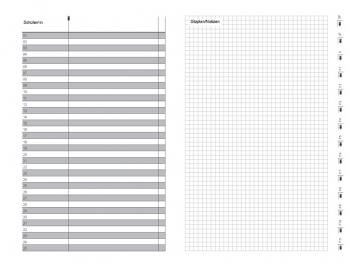 A6 3er Leder natur rot Lehrerkalender 2020