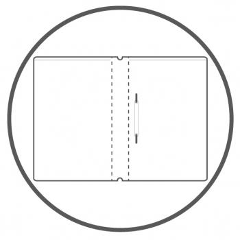 A4+ 2er Projektmappe Lefa beschichtet rot mit 2 x Notizen, Doppeltasche und Schnellhefter