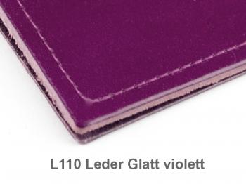 A5 Hülle 2er Leder glatt violett inkl. ElastiXs