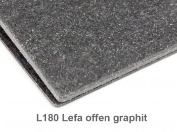 """IDEEN"" A6 1er Lefa offen graphit mit Prägung"