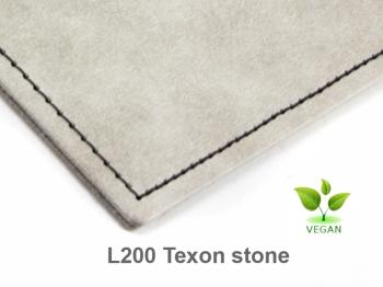 A5 4er Notizbuch Texon stone / rot, Notizenmix