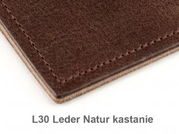 A6 2er Leder natur kastanie mit Notizenmix und Doppeltasche