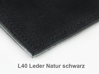 A6 1er Leder natur schwarz, 1 Einlage