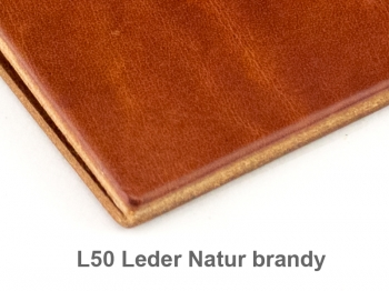 A6 2er Leder natur brandy mit Notizenmix und Doppeltasche
