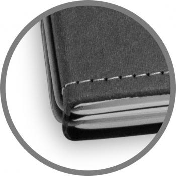 A5 2er Notizbuch Texon schwarz / grau, Notizenmix