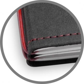A5 1er Notizbuch Texon schwarz / rot