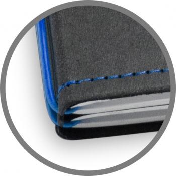 A5 Hülle 1er Texon schwarz/blau inkl. ElastiXs