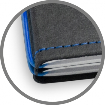 A5 2er Notizbuch Texon schwarz / blau, Notizenmix