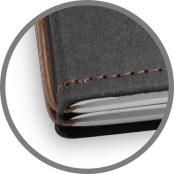A5 3er Notizbuch Texon schwarz / braun, Notizenmix