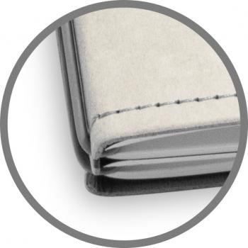 A5 3er Notizbuch Texon stone / grau, Notizenmix