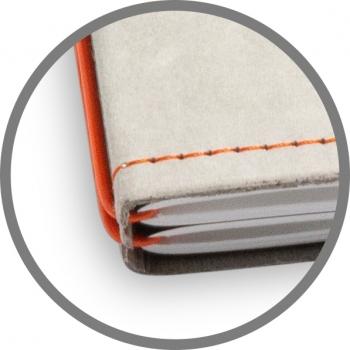 A5 Hülle 4er Texon stone/orange inkl. ElastiXs