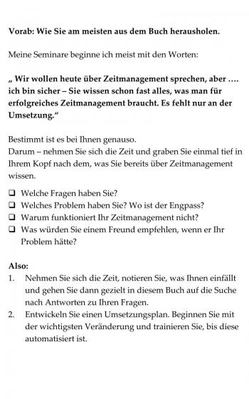 Zeitmanagement - Zeit optimal nutzen, A6 Büchlein