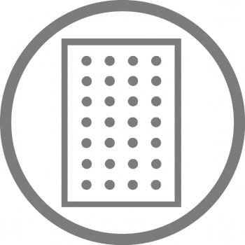 A5 4er Notizbuch Leder glatt schwarz, Notizenmix