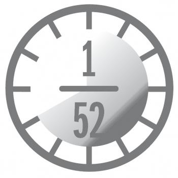 A6 3er HardSkin weiss mit Kalender 2021