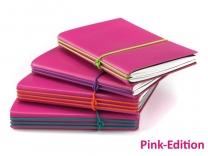 A6 PINK Edition mit farbigen ElastiXs (1 bis 3 Hefte)