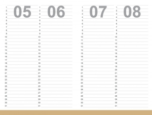 A6 Leporello Geburtstagsplaner