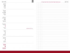 A6 Wochenkalender 2020 Links, inkl. Leporello/Faltplaner