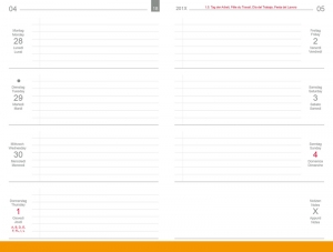 A6 Wochenkalender QUER 2020 inkl. Leporello/Faltplaner