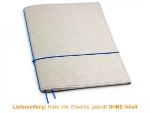 A4+ Hülle 1er Texon stone/blau inkl. ElastiXs