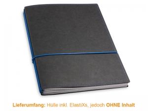 A4+ Hülle 3er Texon schwarz/blau inkl. ElastiXs