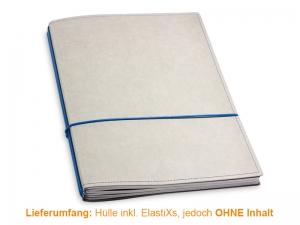 A4+ Hülle 3er Texon stone/blau inkl. ElastiXs