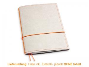A5 Hülle 1er Texon stone/orange inkl. ElastiXs