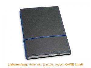 A5 Hülle 2er Texon schwarz/blau inkl. ElastiXs