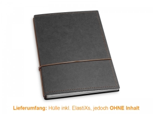 A5 Hülle 2er Texon schwarz/braun inkl. ElastiXs