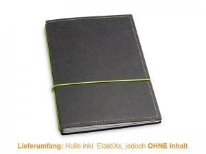 A5 Hülle 3er Texon schwarz/grün inkl. ElastiXs
