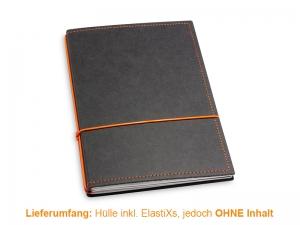 A5 Hülle 2er Texon schwarz/orange inkl. ElastiXs