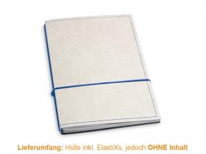 A5 Hülle 2er Texon stone/blau inkl. ElastiXs