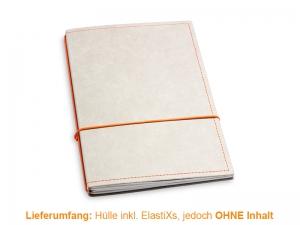 A5 Hülle 2er Texon stone/orange inkl. ElastiXs