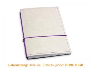A5 Hülle 2er Texon stone/lila inkl. ElastiXs