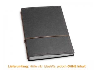A5 Hülle 3er Texon schwarz/braun inkl. ElastiXs