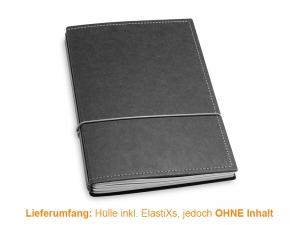 A5 Hülle 3er Texon schwarz/grau inkl. ElastiXs